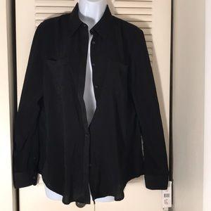 Black, long sleeves women's shirt